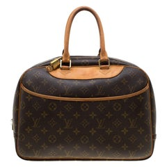 Louis Vuitton Brown Monogram Canvas Deauville Bag