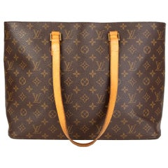 LOUIS VUITTON brown Monogram Canvas LUCO TOTE Shoulder Bag