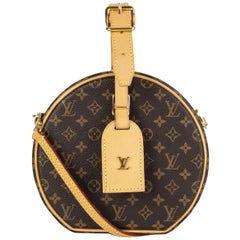LOUIS VUITTON brown Monogram Canvas PETITE BOITE CHAPEU Shoulder Bag