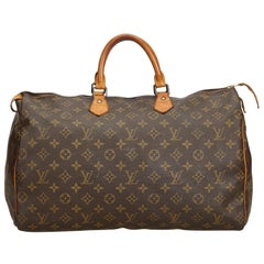 Louis Vuitton Brown Monogram Canvas  Speedy 40 France LARGE