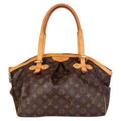 LOUIS VUITTON brown Monogram canvas TIVOLI GM Shoulder Bag