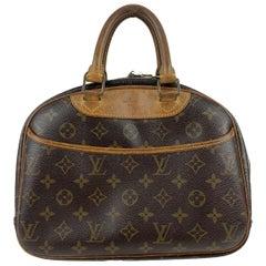 Louis Vuitton Brown Monogram Canvas Trouville Bag Satchel Handbag