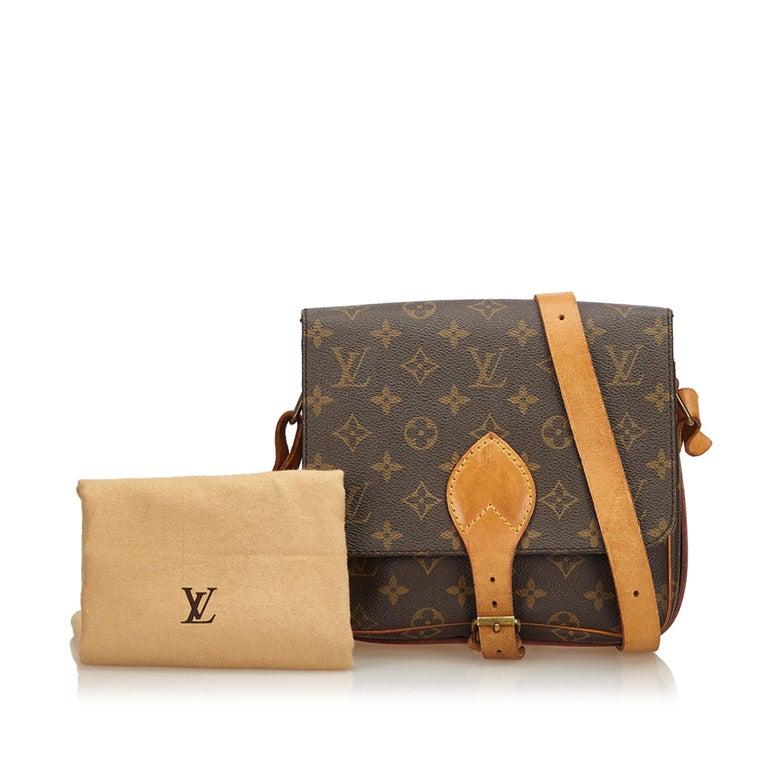 Louis Vuitton Brown Monogram Cartouchiere MM For Sale 6