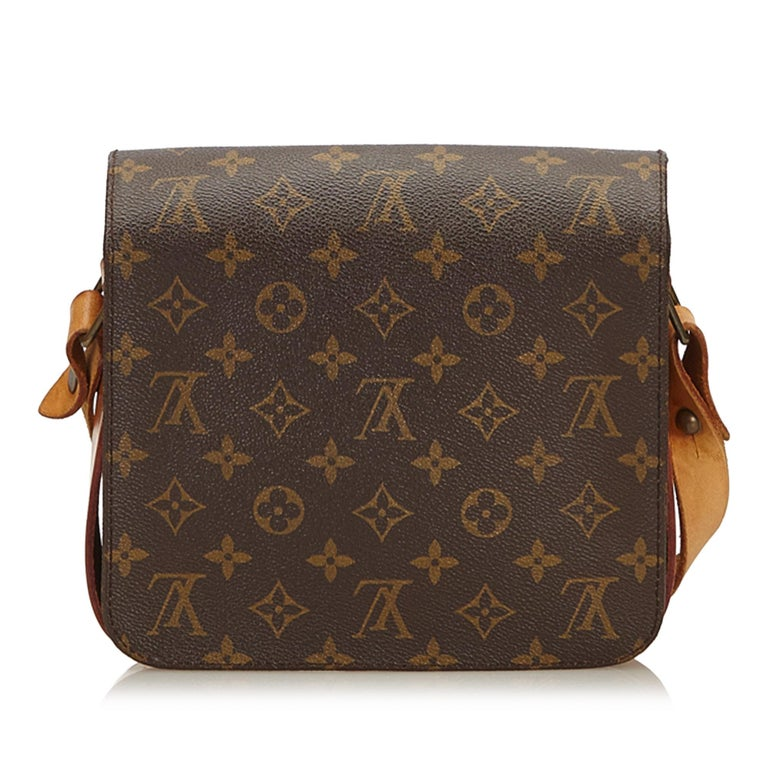 Louis Vuitton Brown Monogram Cartouchiere MM In Good Condition For Sale In Orlando, FL