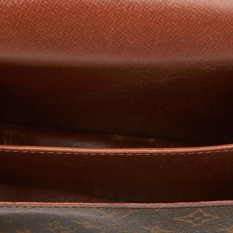 Louis Vuitton Brown Monogram Cartouchiere MM For Sale 1