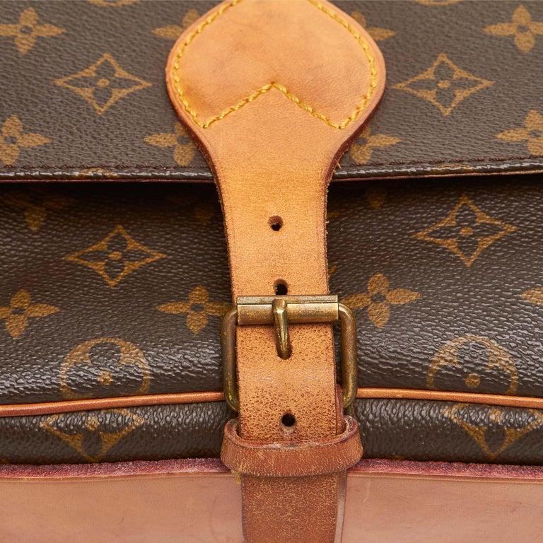 Louis Vuitton Brown Monogram Cartouchiere MM For Sale 4