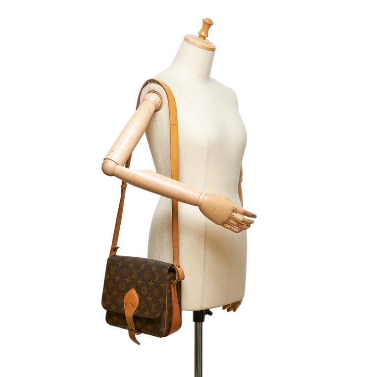 Louis Vuitton Brown Monogram Cartouchiere MM For Sale 5