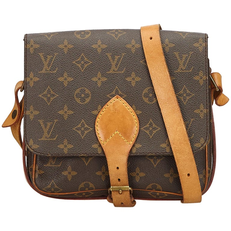 Louis Vuitton Brown Monogram Cartouchiere MM For Sale