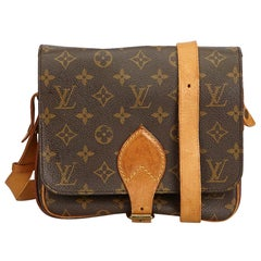 Louis Vuitton Brown Monogram Cartouchiere MM