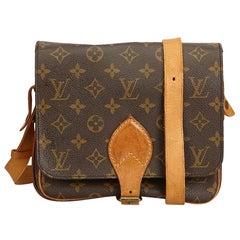 Louis Vuitton braun Monogramm Cartouchiere MM