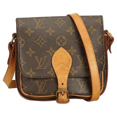 Louis Vuitton Brown Monogram Cartouchiere PM