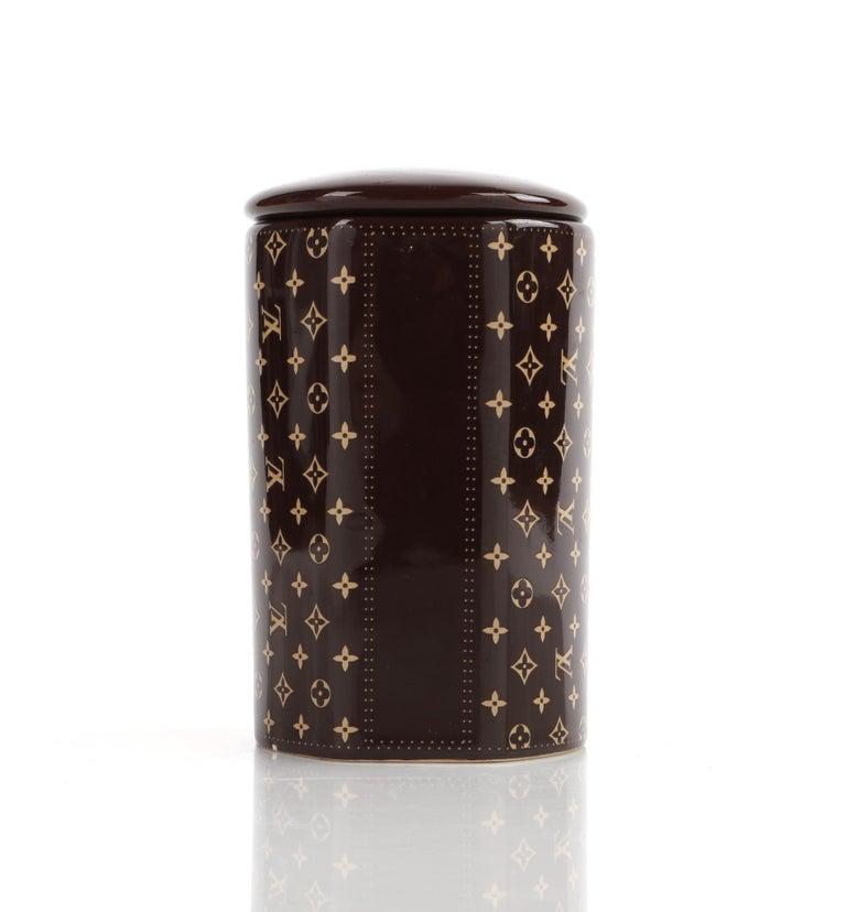 LOUIS VUITTON Brown Monogram Ceramic Coffee Tea Cup Mug RARE  4