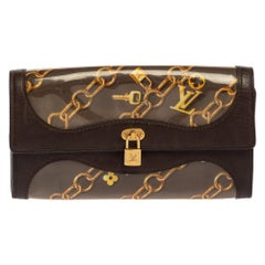 Louis Vuitton Brown Monogram Charms Limited Edition Porte Monnaie Wallet