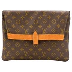 Louis Vuitton Brown Monogram Clutch Bag