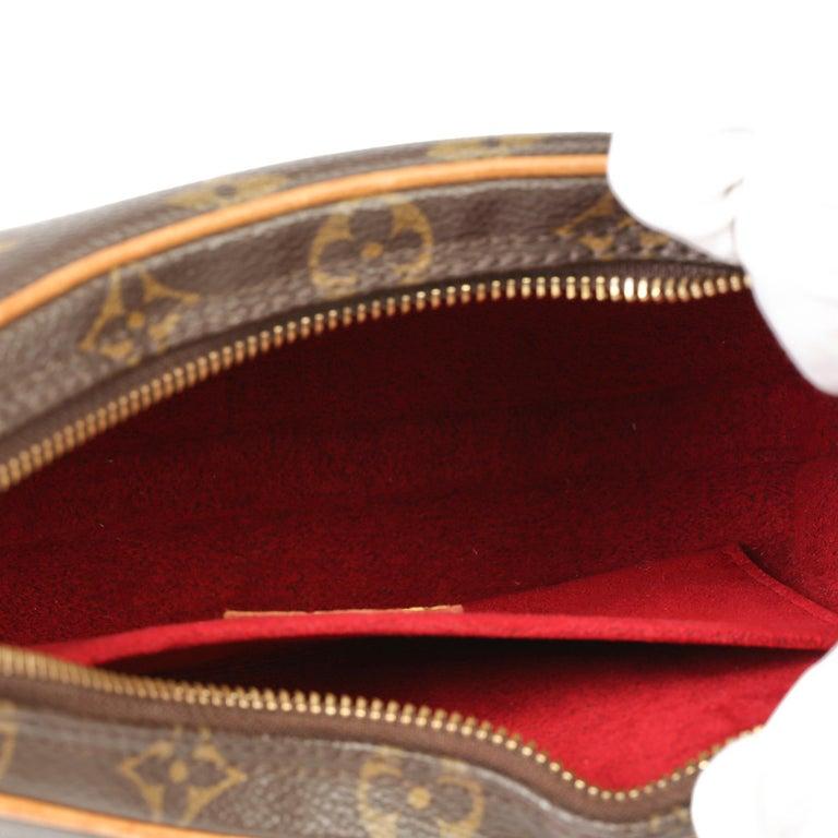 Louis Vuitton Brown Monogram Coated Canvas & Vachetta Leather Croissant PM  6
