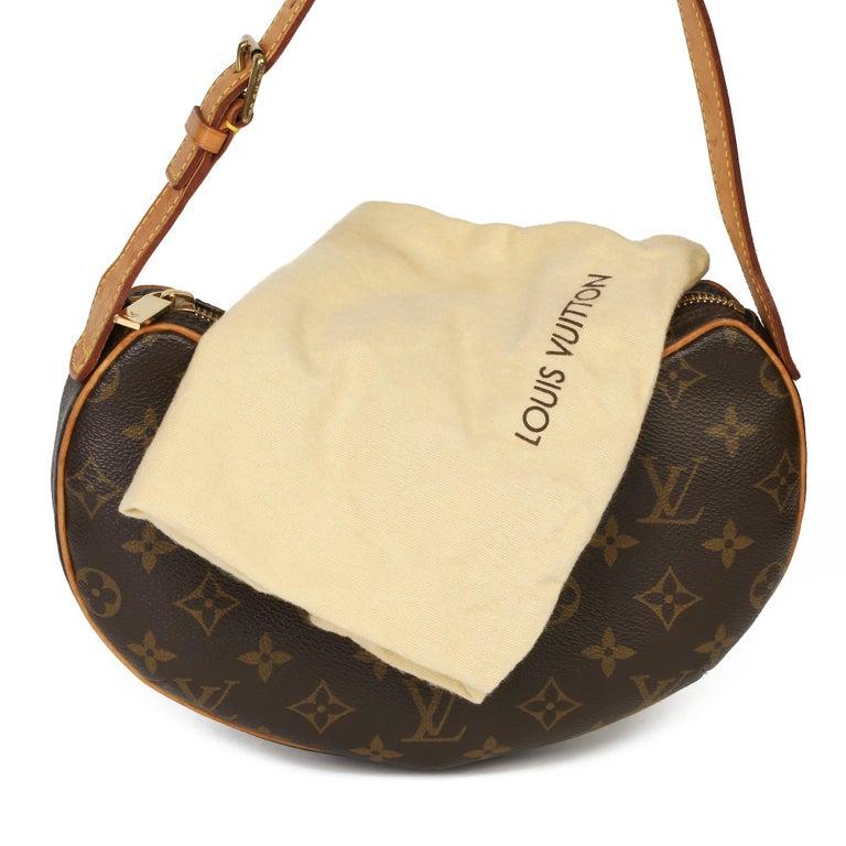Louis Vuitton Brown Monogram Coated Canvas & Vachetta Leather Croissant PM  7