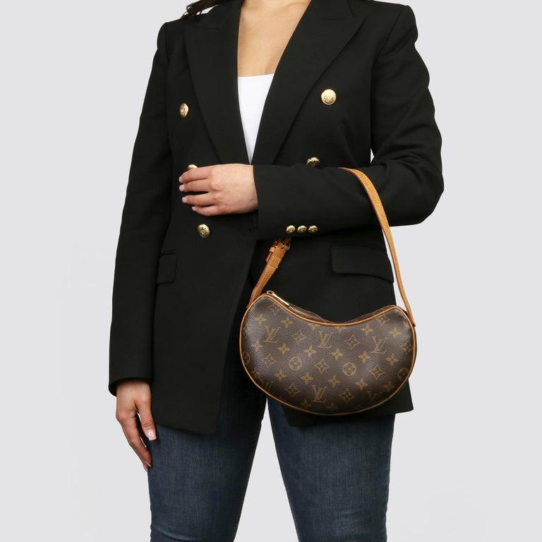 Louis Vuitton Brown Monogram Coated Canvas & Vachetta Leather Croissant PM  8