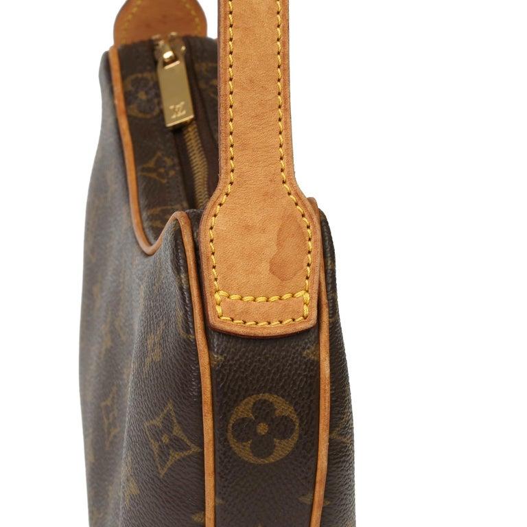 Louis Vuitton Brown Monogram Coated Canvas & Vachetta Leather Croissant PM  2