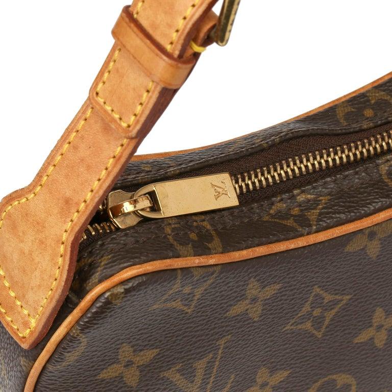 Louis Vuitton Brown Monogram Coated Canvas & Vachetta Leather Croissant PM  3