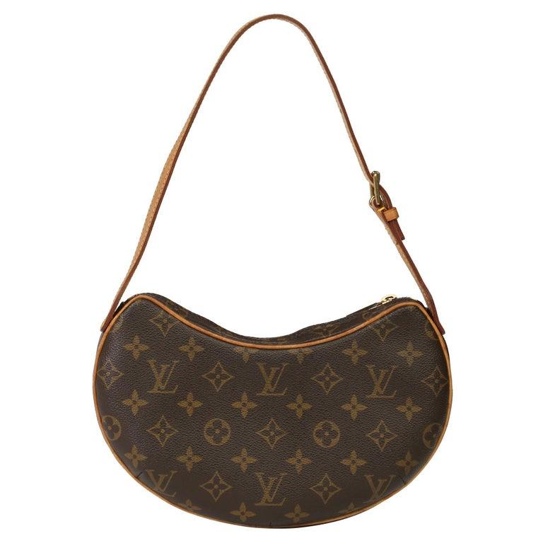 Louis Vuitton Brown Monogram Coated Canvas & Vachetta Leather Croissant PM
