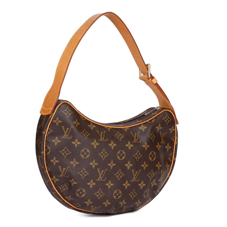 LOUIS VUITTON Brown Monogram Coated Canvas & Vachetta Leather Crossiant MM  Xupes Reference: CB348 Serial Number: FL0043 Age (Circa): 2003 Authenticity Details: Date Stamp (Made in France) Gender: Ladies Type: Top Handle, Shoulder  Colour:
