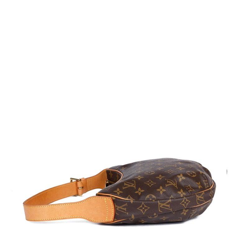 Women's Louis Vuitton Brown Monogram Coated Canvas & Vachetta Leather Crossiant MM For Sale