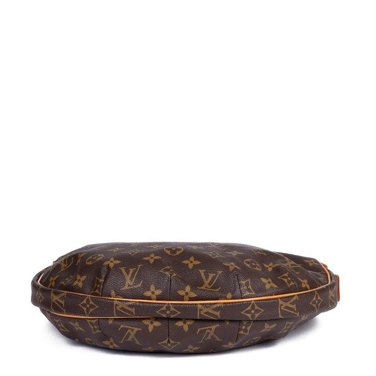Louis Vuitton Brown Monogram Coated Canvas & Vachetta Leather Crossiant MM For Sale 2