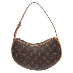 Louis Vuitton Brown Monogram Croissant PM Bag