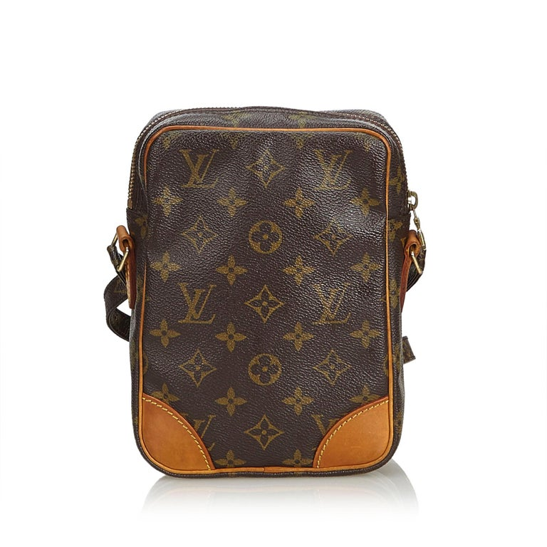 Black Louis Vuitton Brown Monogram Danube For Sale