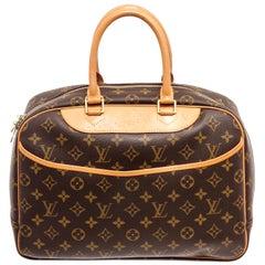 Louis Vuitton Brown Monogram Deauville Tote Bag