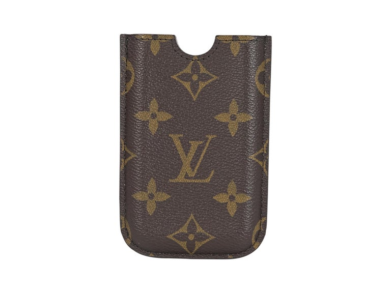 Product details: Brown monogram iPhone 3 case by Louis Vuitton.  Lined interior.   Condition: Pre-owned. Very good.