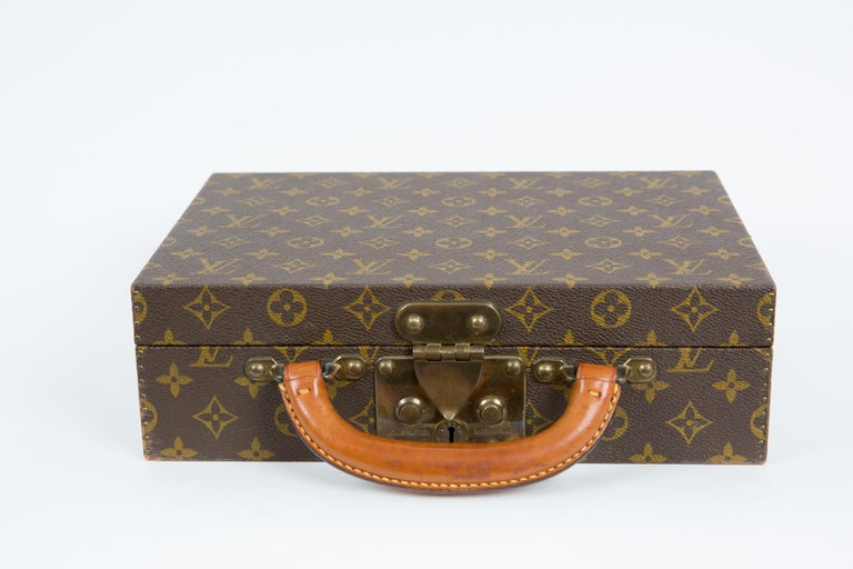 Louis Vuitton Brown Monogram Jewell Case Luggage For Sale 3