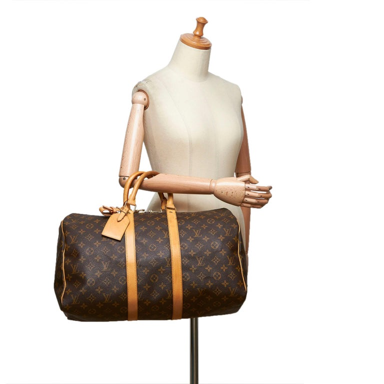 Louis Vuitton Brown Monogram Keepall 45 For Sale 8