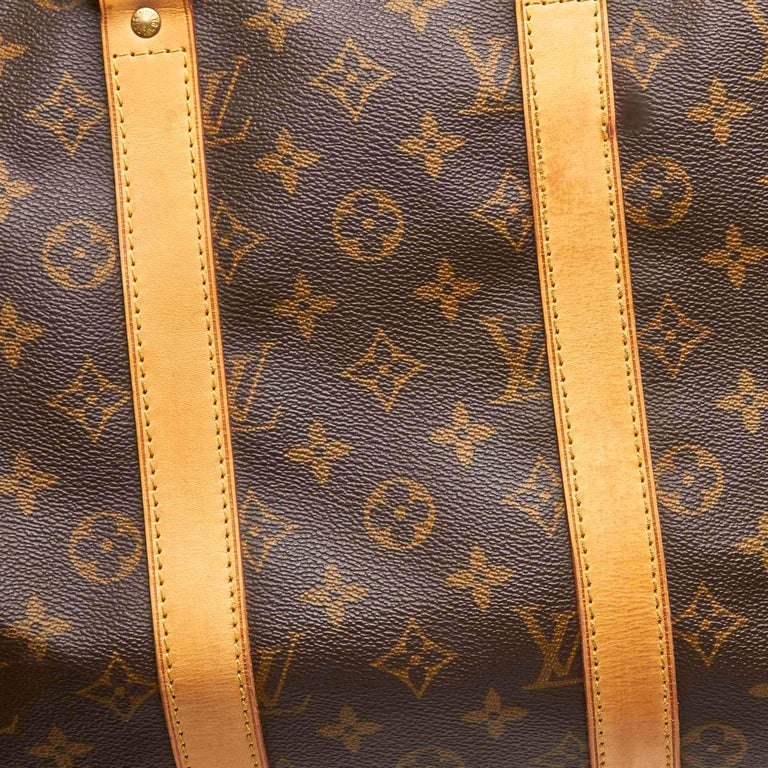 Louis Vuitton Brown Monogram Keepall 45 For Sale 3