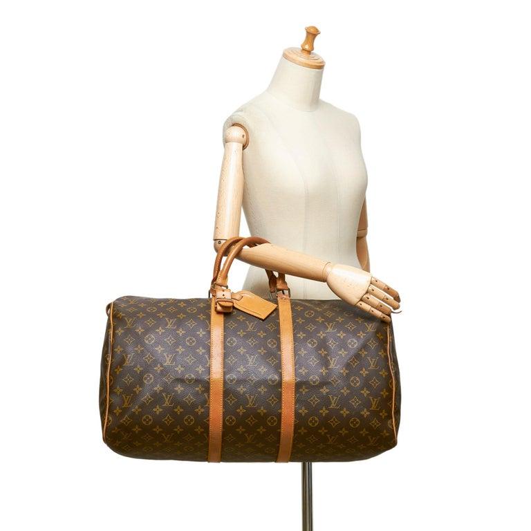 Louis Vuitton Brown Monogram Keepall 55 For Sale 6