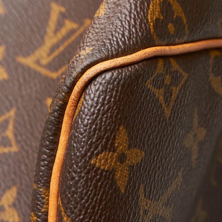 Louis Vuitton Brown Monogram Keepall 55 For Sale 9
