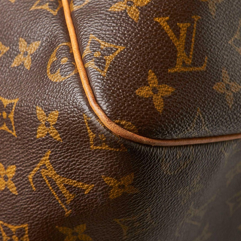 Louis Vuitton Brown Monogram Keepall 55 For Sale 11