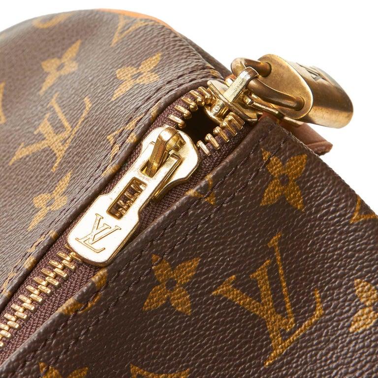 Louis Vuitton Brown Monogram Keepall 55 For Sale 12