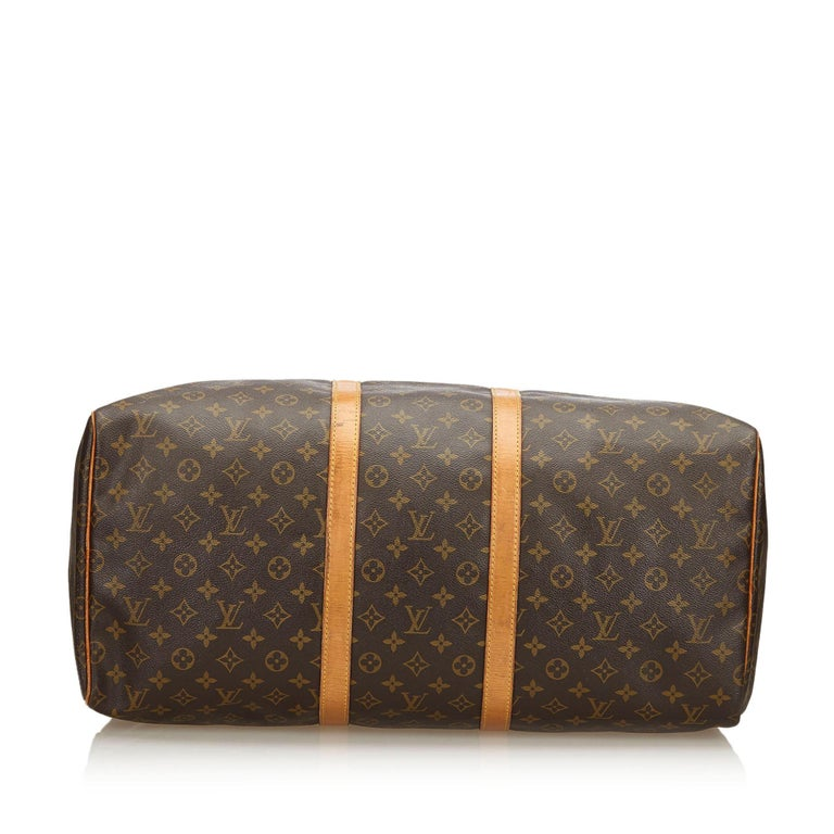 Women's Louis Vuitton Brown Monogram Keepall 55 For Sale