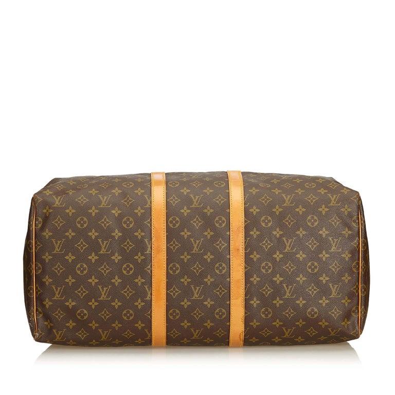 Women's Louis Vuitton Brown Monogram Keepall 55 For Sale