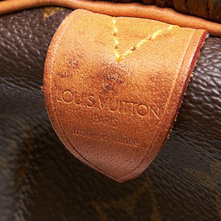 Louis Vuitton Brown Monogram Keepall 55 For Sale 2