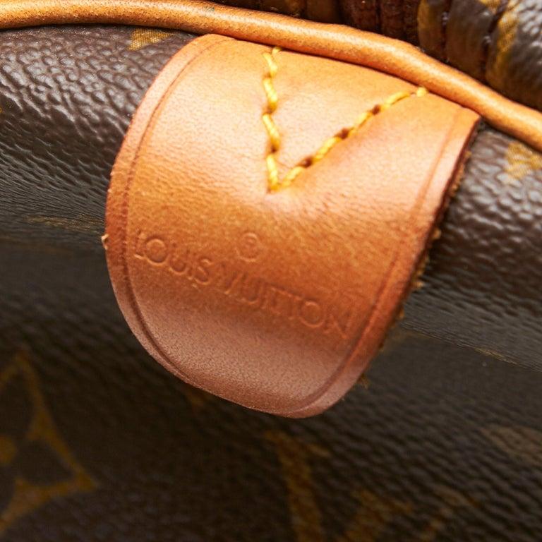 Louis Vuitton Brown Monogram Keepall 55 For Sale 2