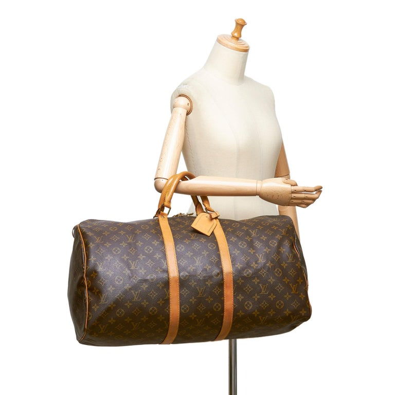 Louis Vuitton Brown Monogram Keepall 55 For Sale 5