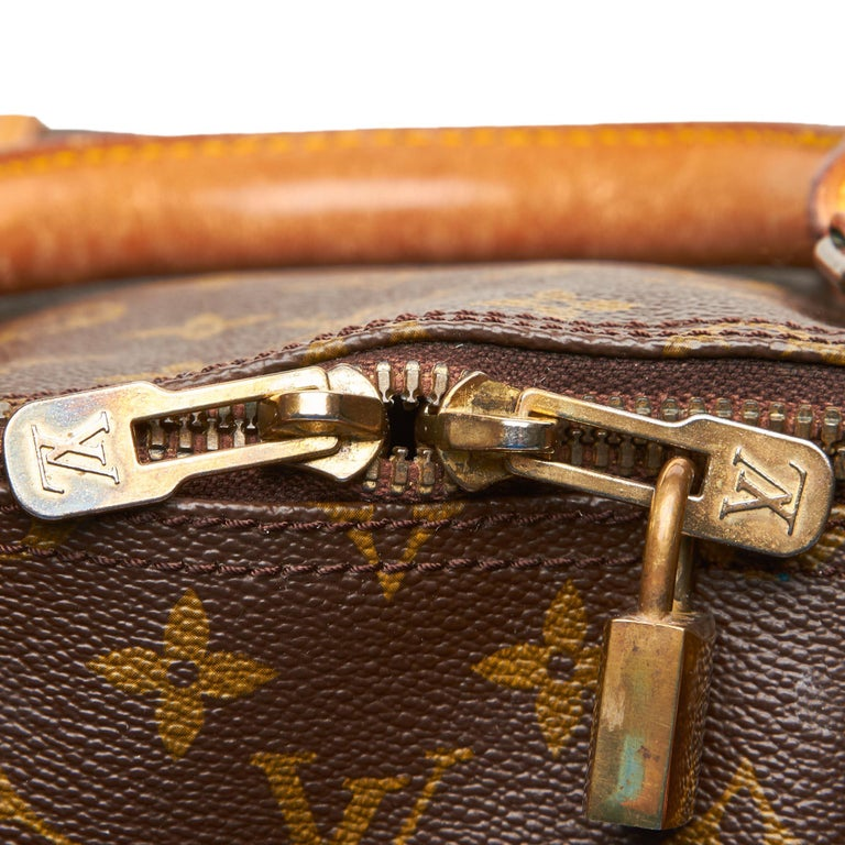 Louis Vuitton Brown Monogram Keepall 55 For Sale 5