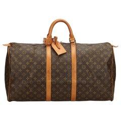 Louis Vuitton Braune Monogram Keepall 55