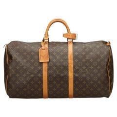 Louis Vuitton Brown Monogram Keepall 55