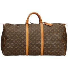 Louis Vuitton Brown Monogram Keepall 60