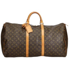 Louis Vuitton Brown Monogram Keepall 60