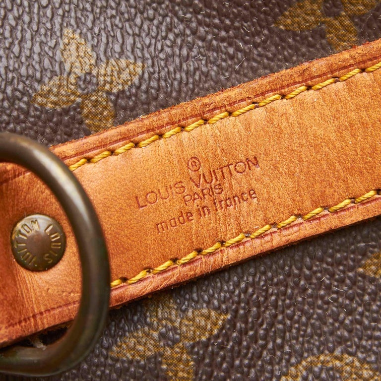 Louis Vuitton Brown Monogram Keepall Bandouliere 55 For Sale 2