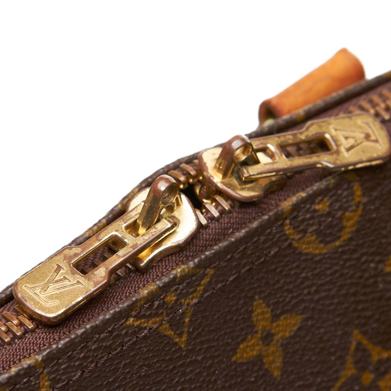 Louis Vuitton Brown Monogram Keepall Bandouliere 55 For Sale 4